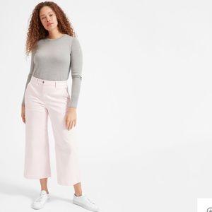 Everlane Wide Leg Crop Pant - Pale Pink